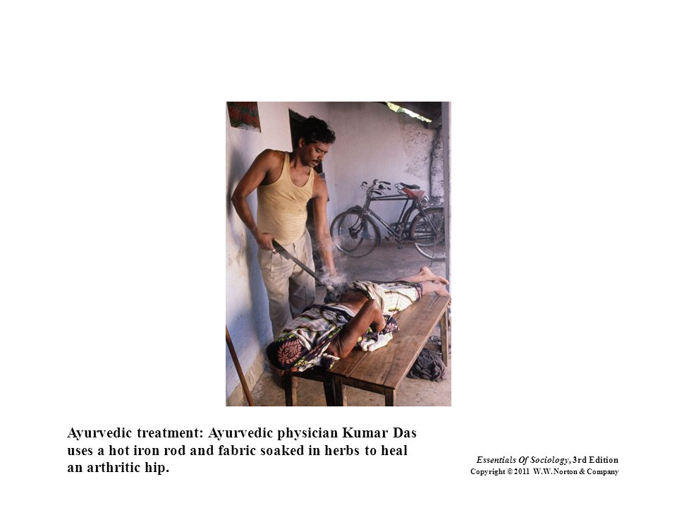 Ayurvedic treatment: Ayurvedic physician Kumar Das