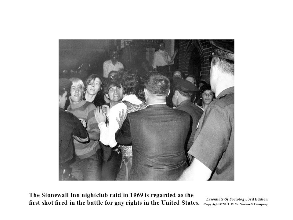 The Stonewall Inn nightclub raid in 1969 is regarded as the