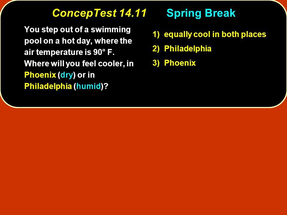 ConcepTest 14.11 Spring Break