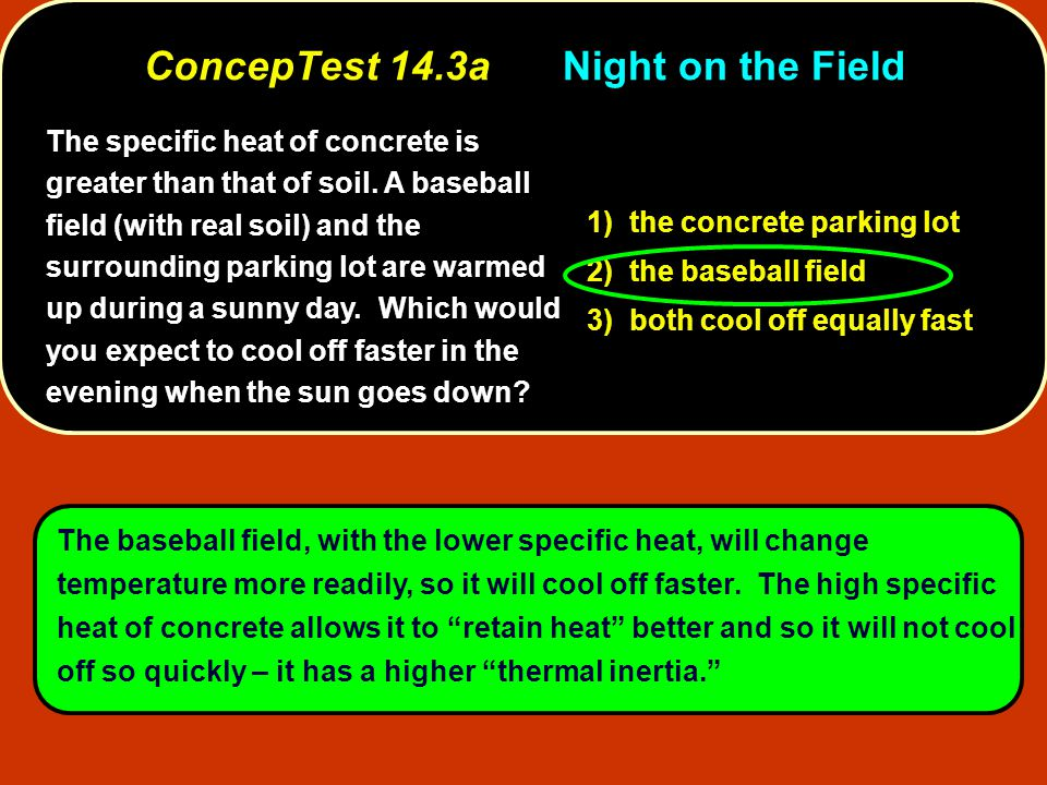 ConcepTest 14.3a Night on the Field