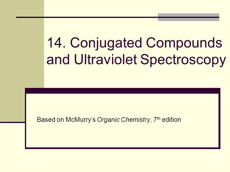 14. Conjugated Compounds and Ultraviolet Spectroscopy