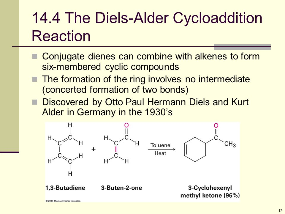 14.4 The Diels-Alder Cycloaddition Reaction