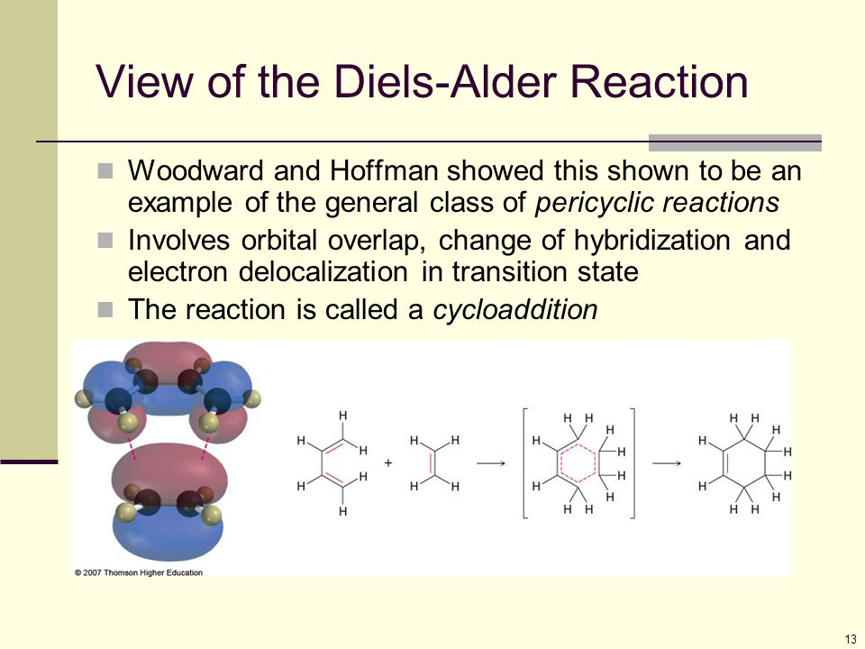 the formation of diels alder reactions