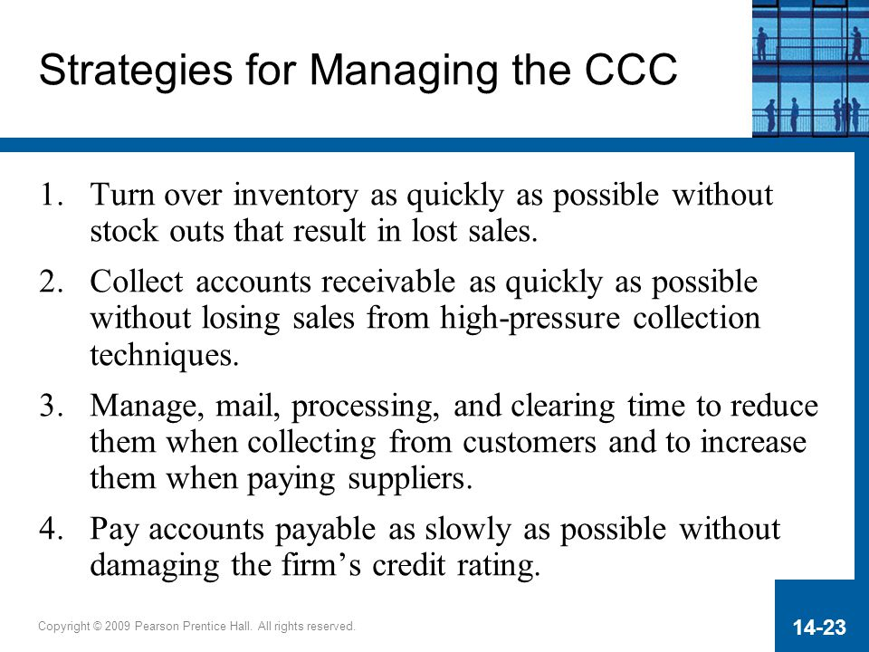 Strategies for Managing the CCC