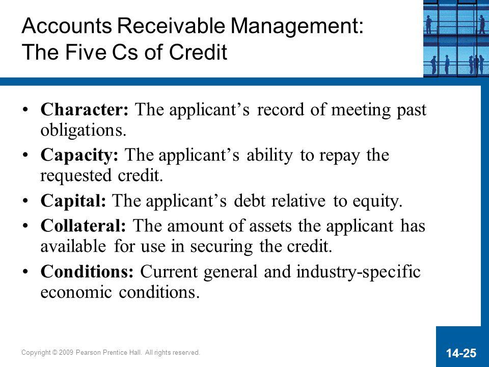 Accounts Receivable Management: The Five Cs of Credit