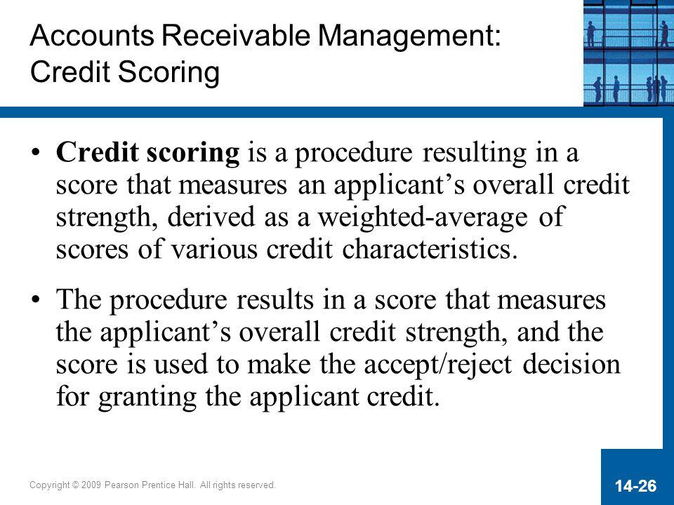 Accounts Receivable Management: Credit Scoring