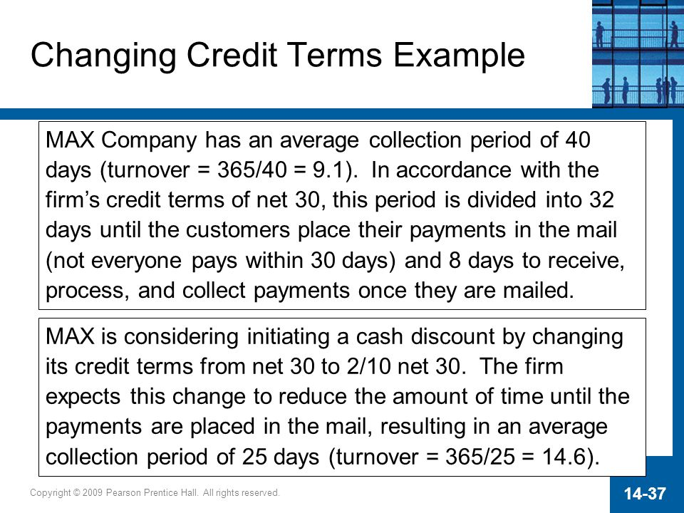 Changing Credit Terms Example