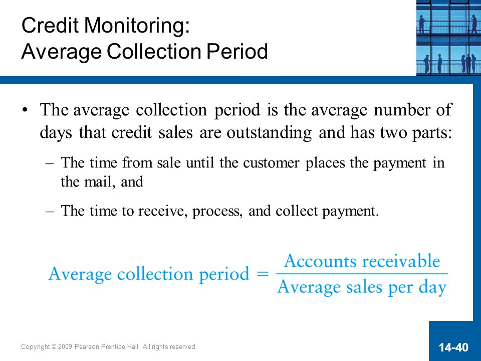 Credit Monitoring: Average Collection Period