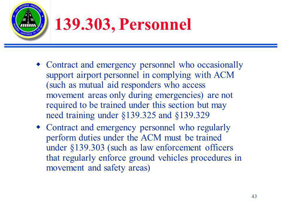 139.303, Personnel