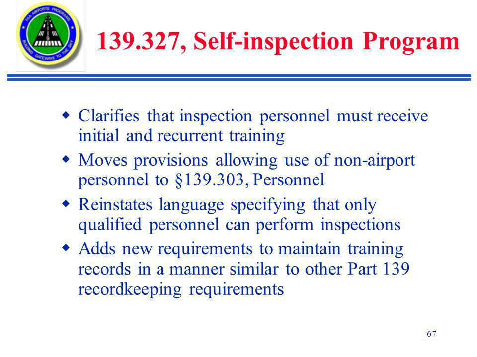 139.327, Self-inspection Program