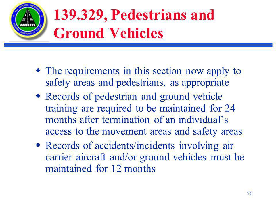 139.329, Pedestrians and Ground Vehicles