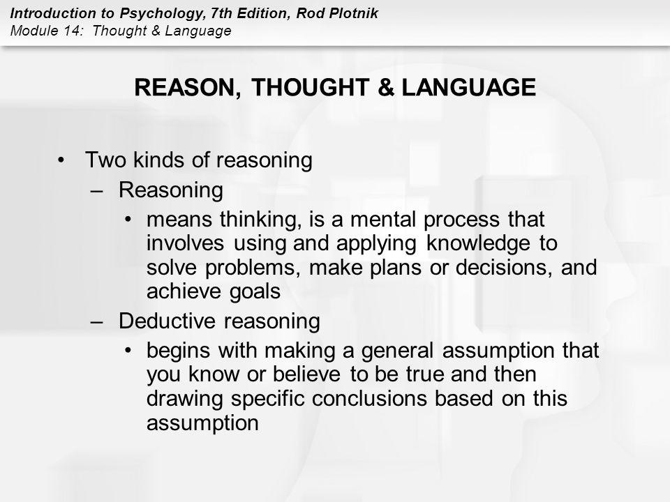 REASON, THOUGHT & LANGUAGE