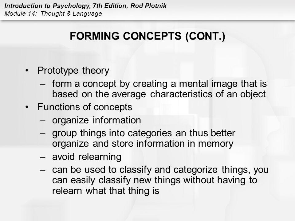 FORMING CONCEPTS (CONT.)