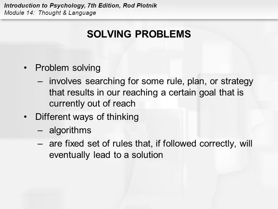 SOLVING PROBLEMS Problem solving