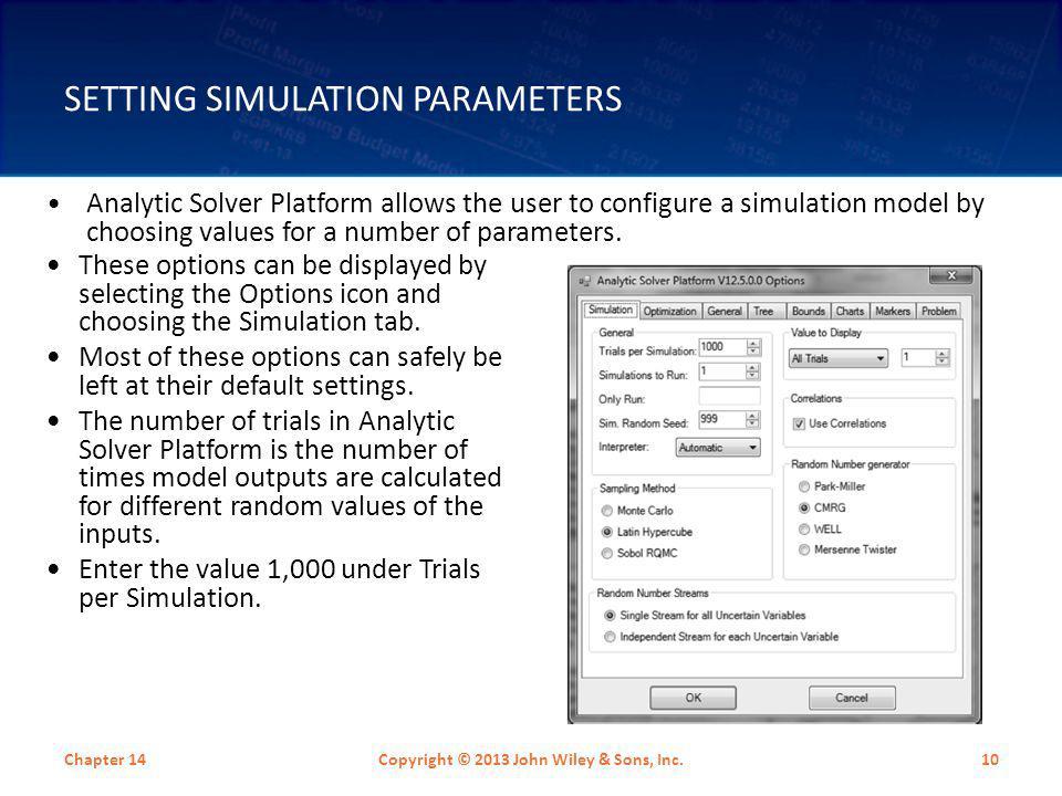 Setting Simulation Parameters