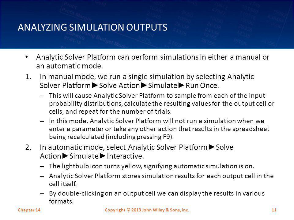Analyzing Simulation Outputs