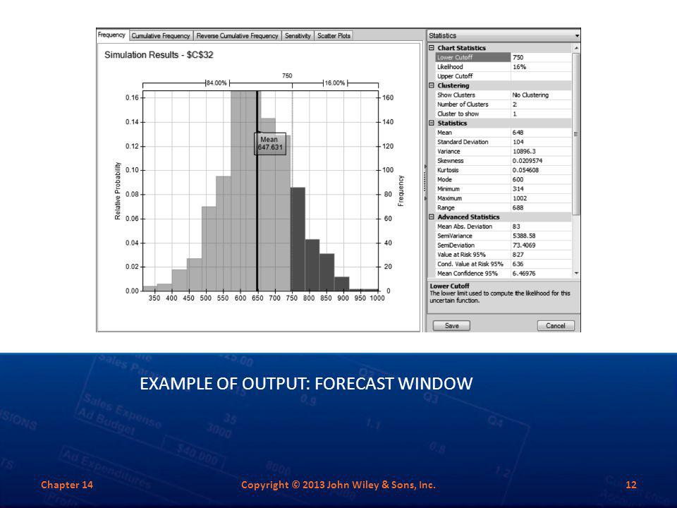 Example of Output: Forecast Window