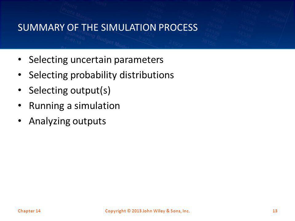 Summary of the Simulation Process
