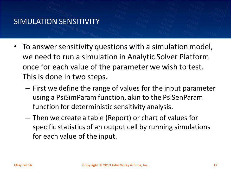 Simulation Sensitivity