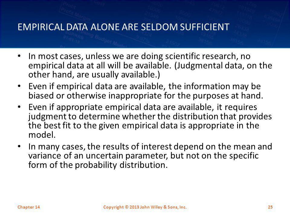 Empirical Data Alone are Seldom Sufficient