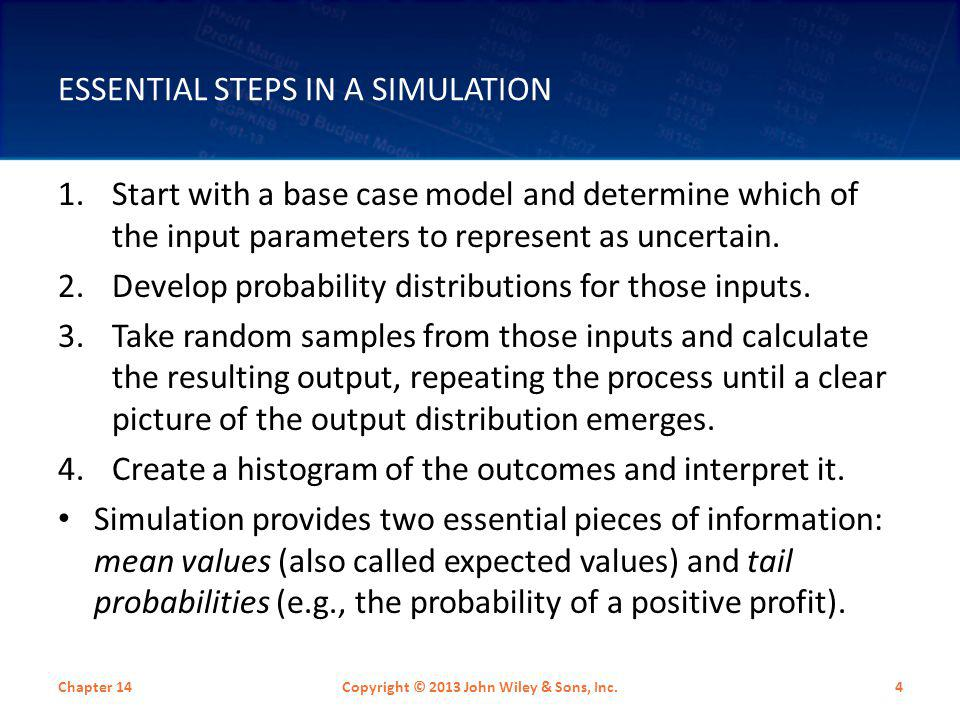 Essential Steps in a Simulation