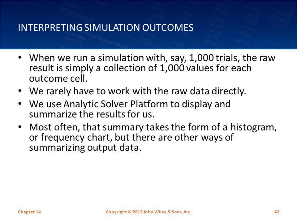 Interpreting Simulation Outcomes