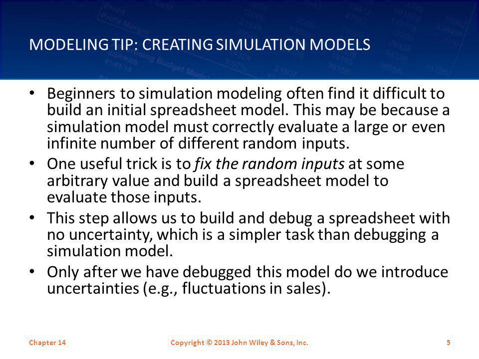 Modeling Tip: Creating Simulation Models