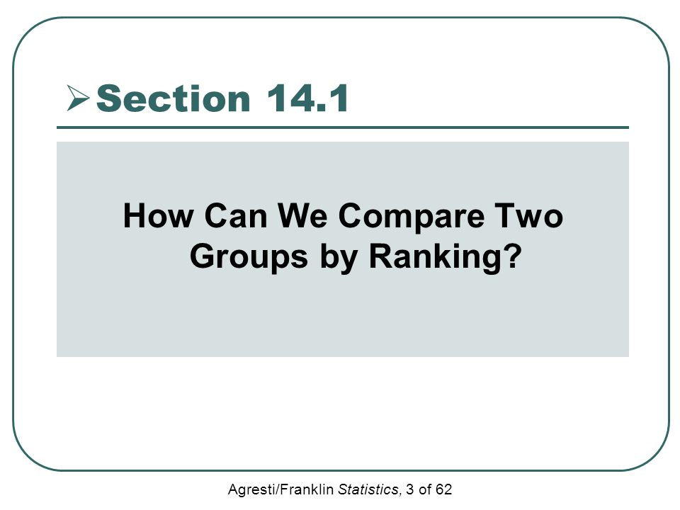 How Can We Compare Two Groups by Ranking