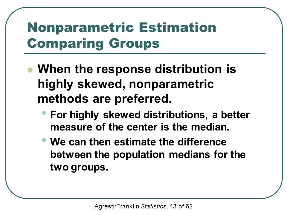 Nonparametric Estimation Comparing Groups