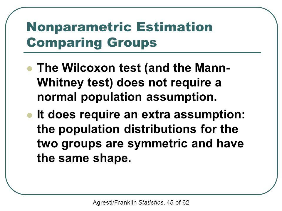 Nonparametric Estimation Comparing Groups