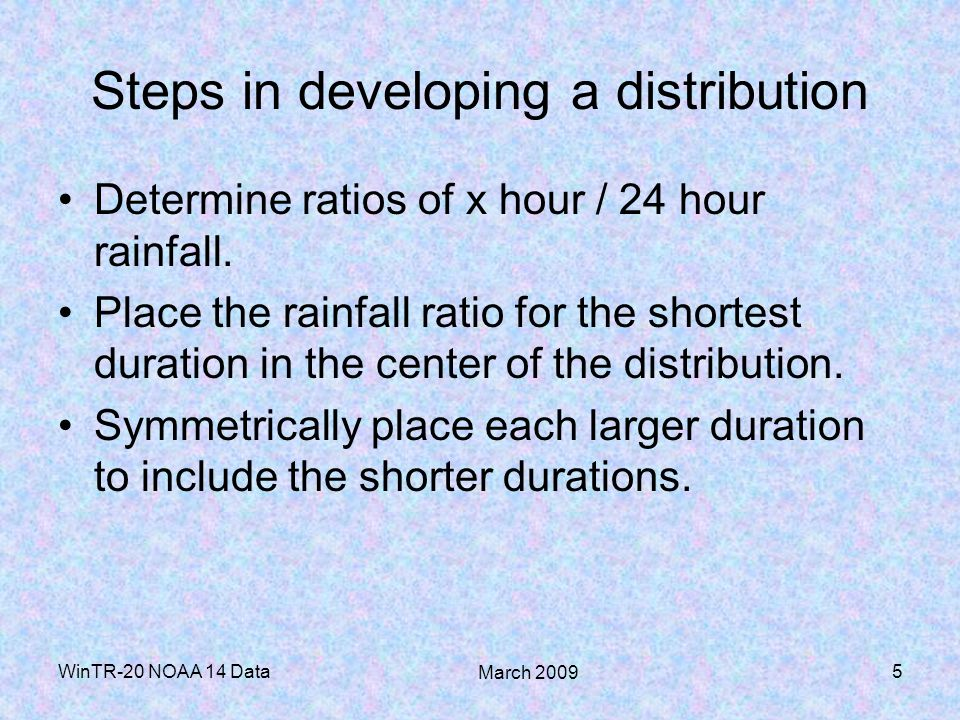 Steps in developing a distribution