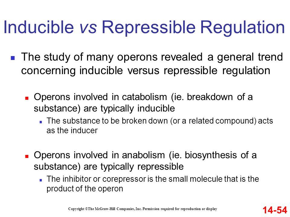 Inducible vs Repressible Regulation