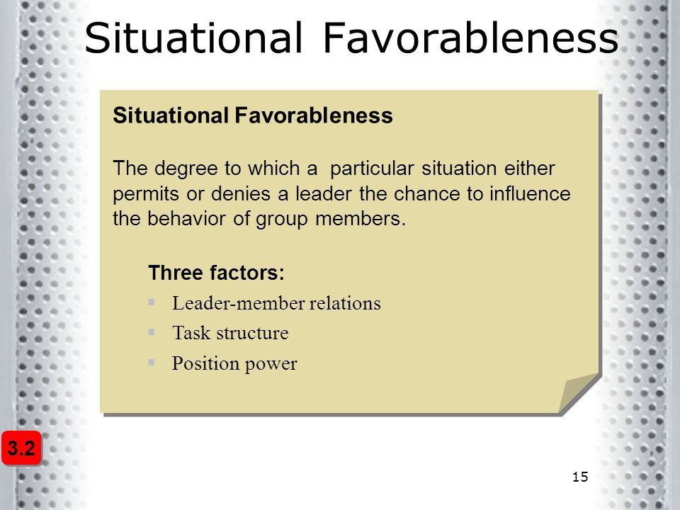 Situational Favorableness