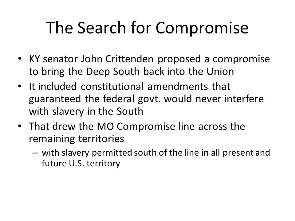 The Search for Compromise
