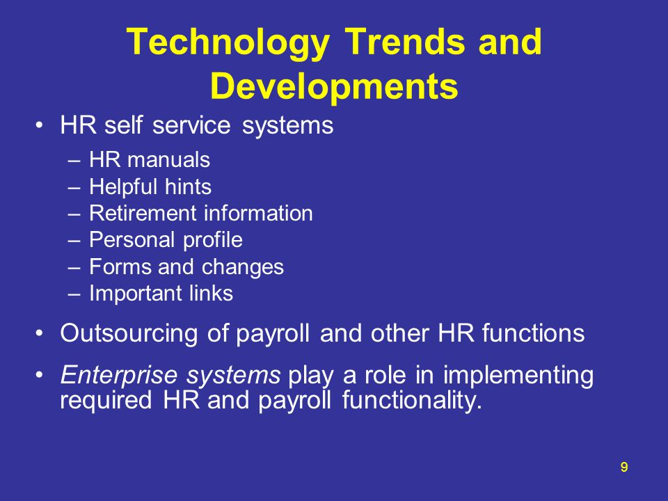 Technology Trends and Developments