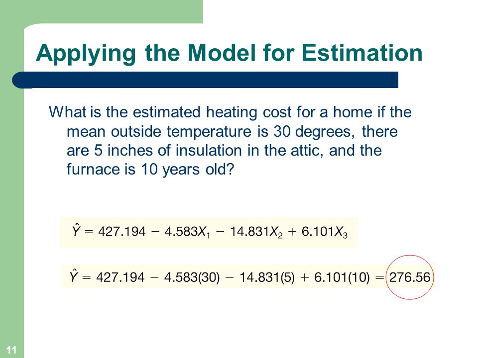 Applying the Model for Estimation