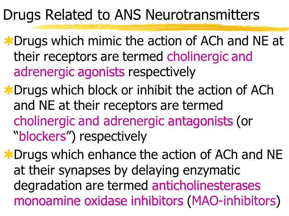 Drugs Related to ANS Neurotransmitters