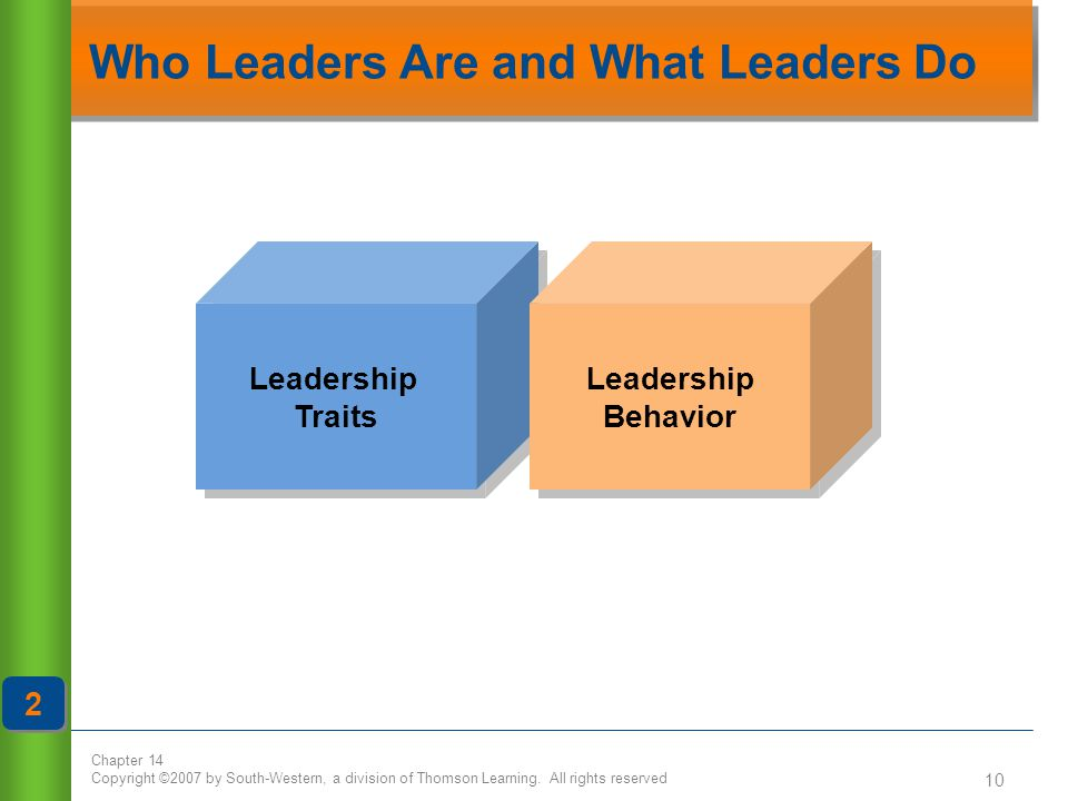 Who Leaders Are and What Leaders Do