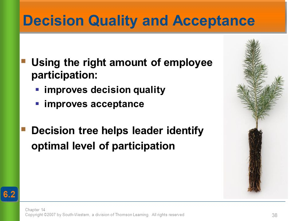 Decision Quality and Acceptance