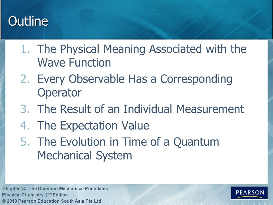Outline The Physical Meaning Associated with the Wave Function
