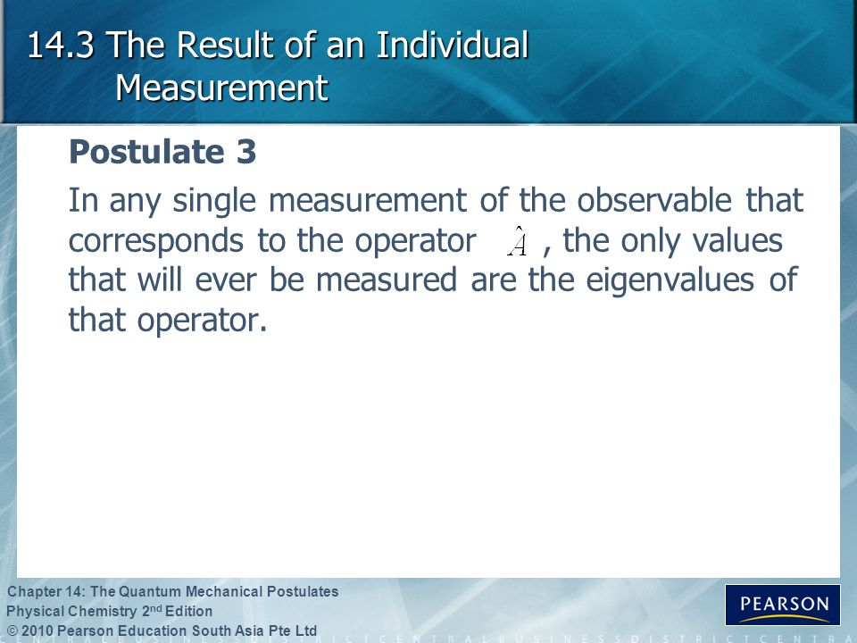 14.3 The Result of an Individual Measurement