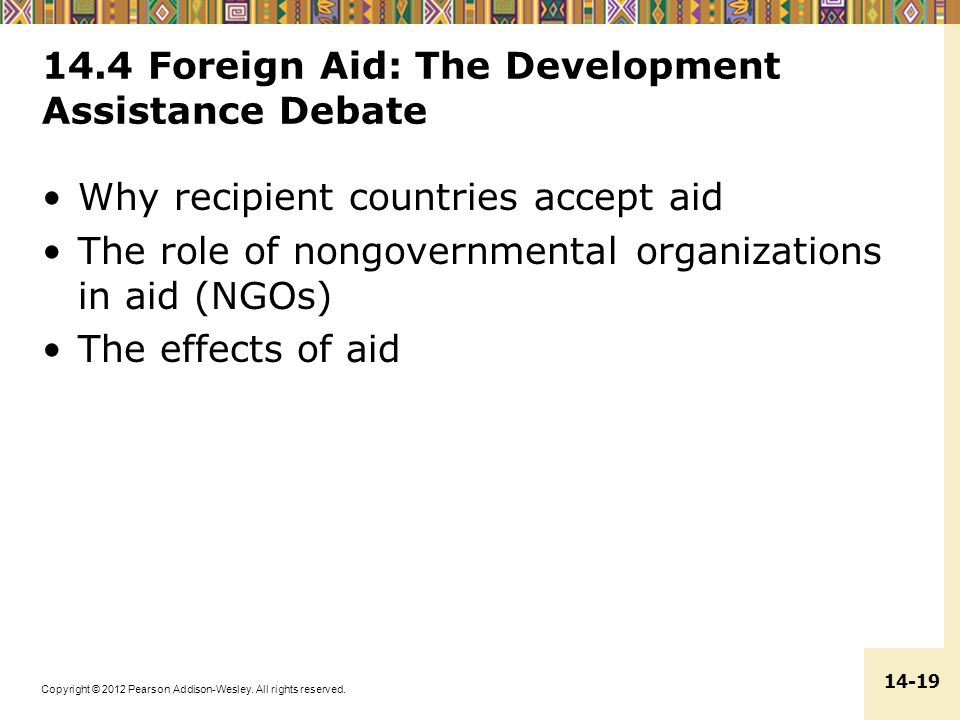 14.4 Foreign Aid: The Development Assistance Debate