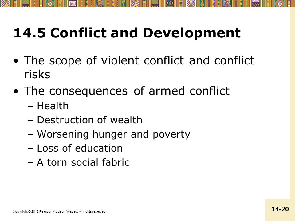 14.5 Conflict and Development