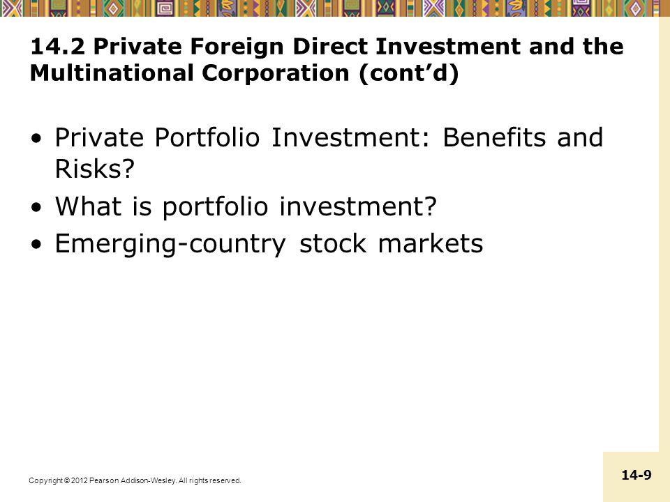 Private Portfolio Investment: Benefits and Risks