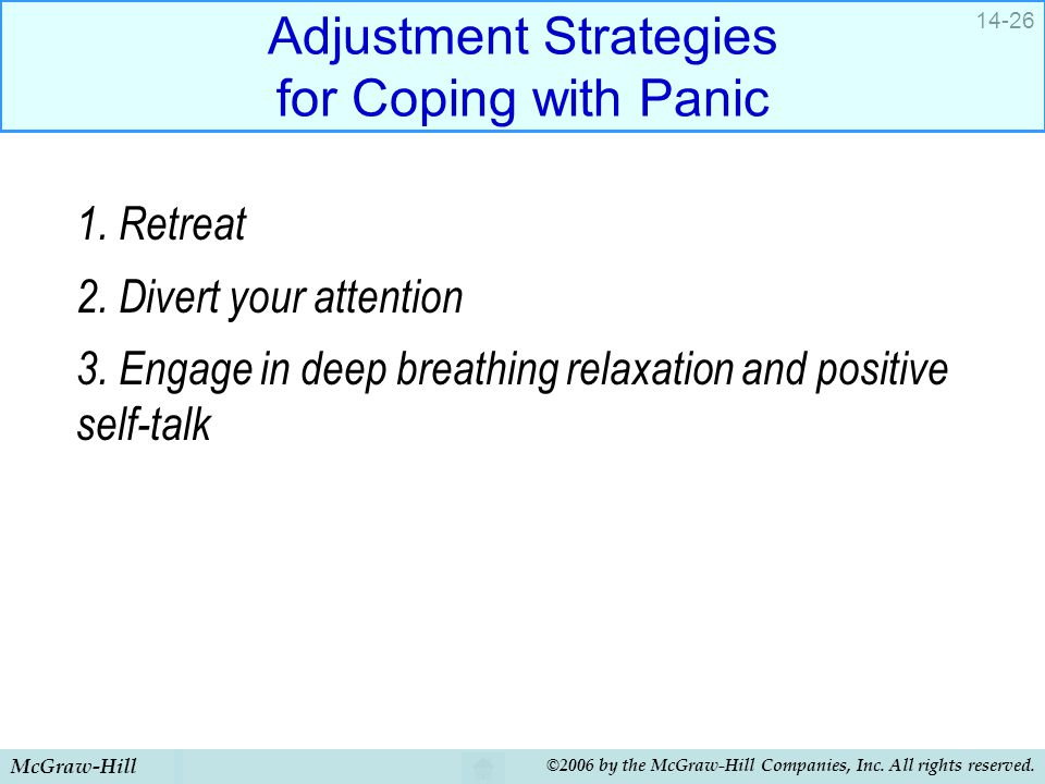 Adjustment Strategies for Coping with Panic