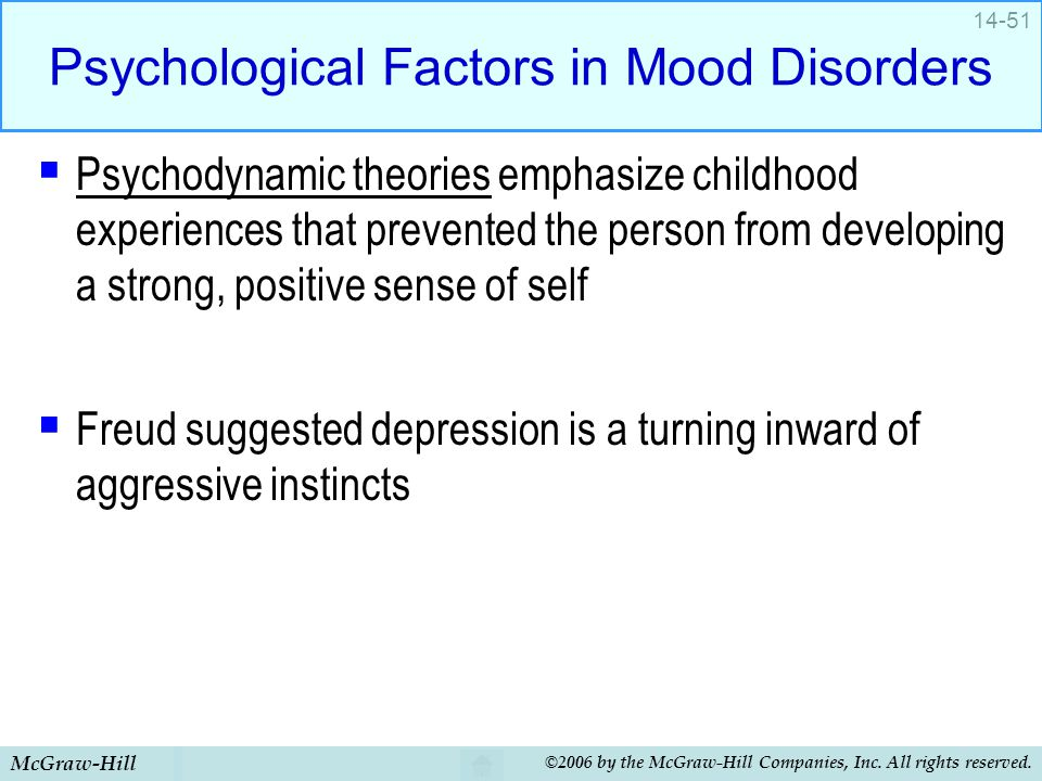 Psychological Factors in Mood Disorders