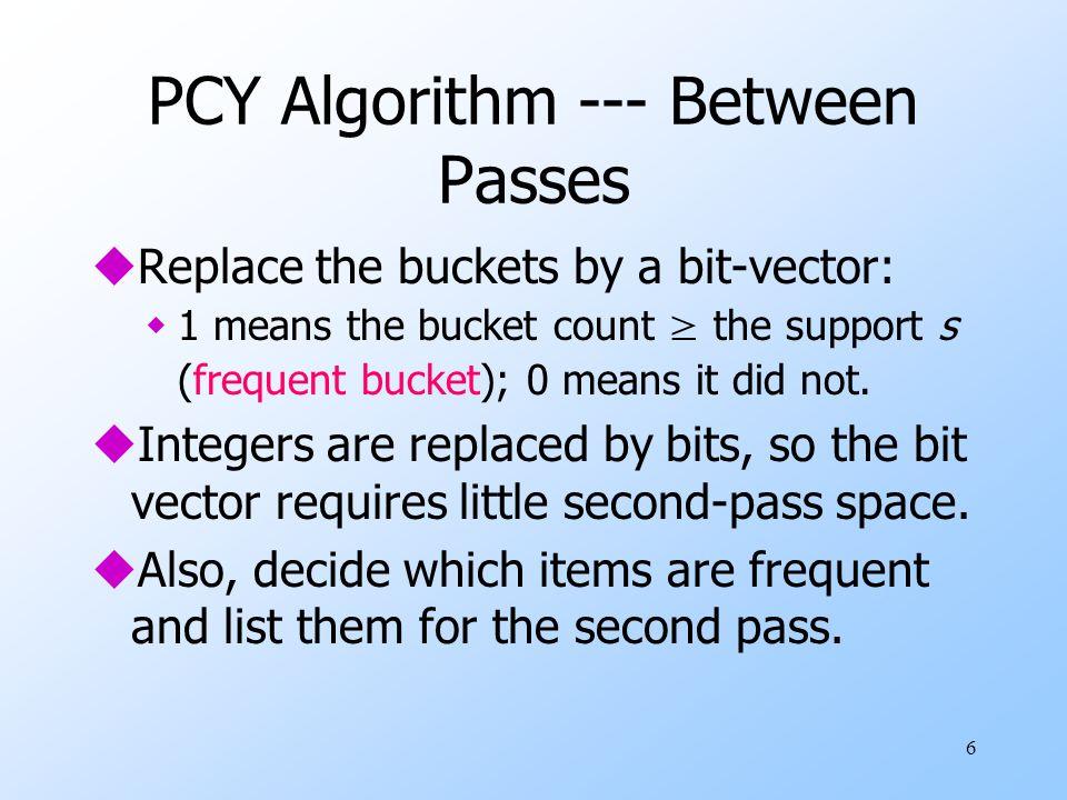 PCY Algorithm --- Between Passes
