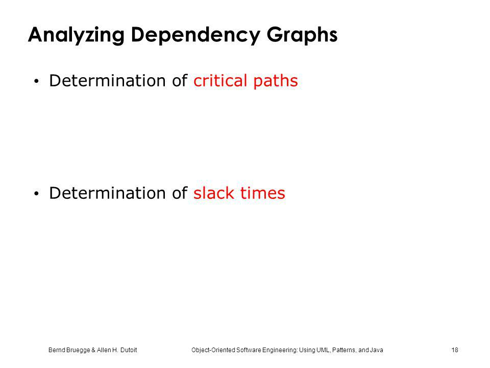 Analyzing Dependency Graphs