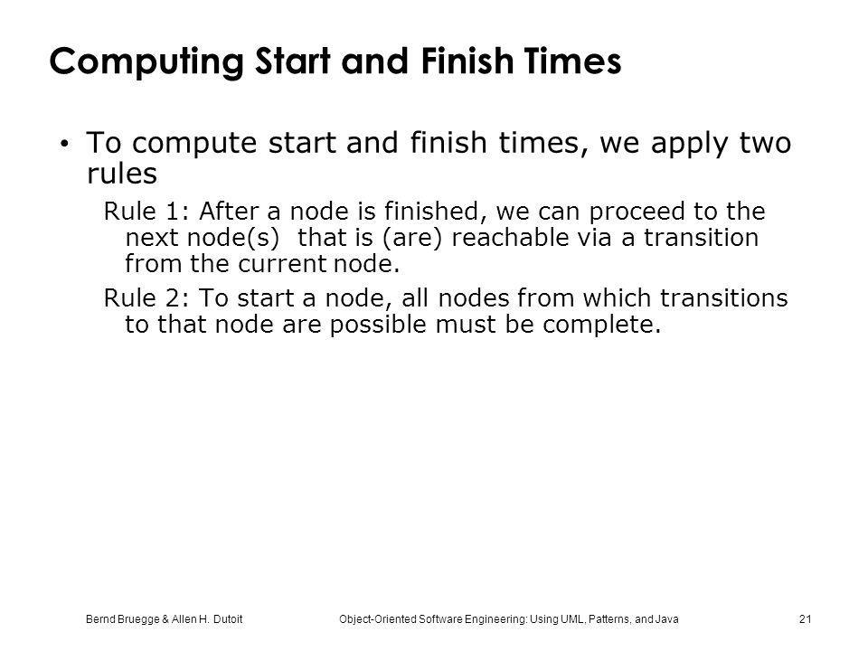 Computing Start and Finish Times