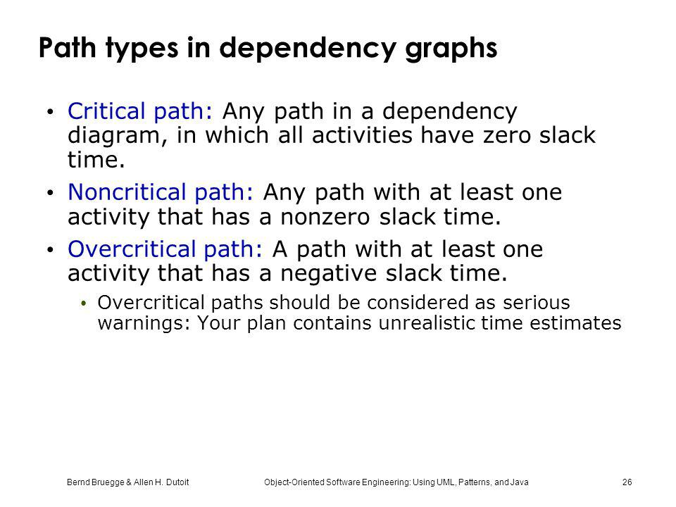 Path types in dependency graphs